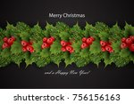 holiday's background with... | Shutterstock .eps vector #756156163