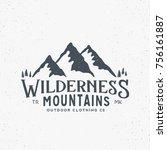 wilderness mountains outdoor... | Shutterstock . vector #756161887