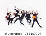 awesome crazy young rock band... | Shutterstock . vector #756167707