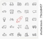 transport line icons set | Shutterstock .eps vector #756168457