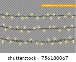 garlands color yellow isolated... | Shutterstock .eps vector #756180067