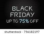 vector realistic isolated neon... | Shutterstock .eps vector #756182197