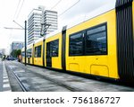 berlin yellow subway  u bahn ... | Shutterstock . vector #756186727