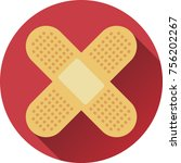 flat design bandage   medical... | Shutterstock .eps vector #756202267