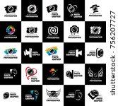 vector logo for photographer | Shutterstock .eps vector #756207727