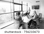 group of business people... | Shutterstock . vector #756210673