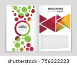 abstract vector layout... | Shutterstock .eps vector #756222223