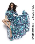 brunette posing in studio | Shutterstock . vector #756233437