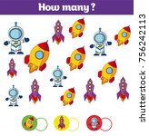 counting educational children... | Shutterstock .eps vector #756242113