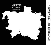 hannover  germany city map... | Shutterstock .eps vector #756252367