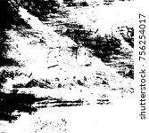 black and white grunge... | Shutterstock .eps vector #756254017