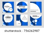 abstract vector layout... | Shutterstock .eps vector #756262987