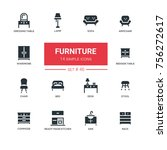 furniture   line design icons... | Shutterstock .eps vector #756272617