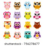 vector illustration of colorful ... | Shutterstock .eps vector #756278677