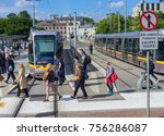 editorial use only  pedestrians ... | Shutterstock . vector #756286087