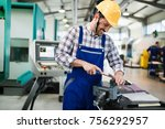 modern industrial machine... | Shutterstock . vector #756292957
