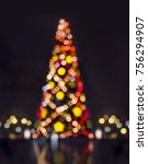 abstract christmas background... | Shutterstock . vector #756294907