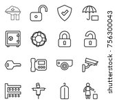thin line icon set   factory... | Shutterstock .eps vector #756300043