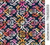 seamless pattern with... | Shutterstock .eps vector #756302053