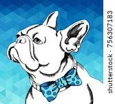 french bulldog. vector...   Shutterstock .eps vector #756307183