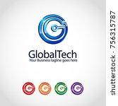 g letter logo template | Shutterstock .eps vector #756315787