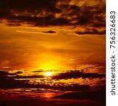 Sunset Sky Background. Fiery...