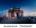 gateway of india at day time... | Shutterstock . vector #756336487