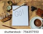 go on an adventure | Shutterstock . vector #756357553