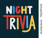 trivia night. vector hand drawn ... | Shutterstock .eps vector #756359143