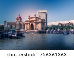 local and international tourist ... | Shutterstock . vector #756361363