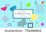minimal universal banner... | Shutterstock .eps vector #756386803