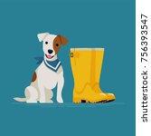 lovely vector illustration on... | Shutterstock .eps vector #756393547