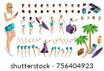 isometric set for creating your ... | Shutterstock .eps vector #756404923