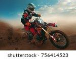 motocross sport photo | Shutterstock . vector #756414523