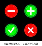 tick  cross  plus  minus icon... | Shutterstock .eps vector #756424003