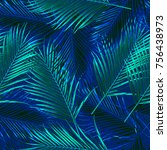 tropical repeat pattern | Shutterstock . vector #756438973
