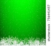 green glowing light snow... | Shutterstock .eps vector #756441457