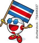 costa rica soccer ball mascot   Shutterstock .eps vector #756444337