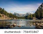 Bow River  Alberta Canad