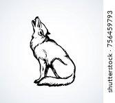 furry gray canidae lagopus... | Shutterstock .eps vector #756459793