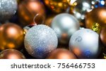 Christmas Background With Ball...