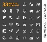 medical vector icons for mobile ... | Shutterstock .eps vector #756476563