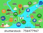 map of the historical center of ... | Shutterstock .eps vector #756477967
