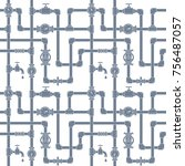 seamless pattern with pipes ...   Shutterstock .eps vector #756487057