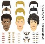 man character face head... | Shutterstock .eps vector #756495973