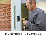 installation locked interior... | Shutterstock . vector #756505783