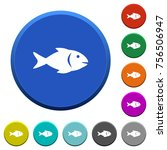 fish round color beveled... | Shutterstock .eps vector #756506947