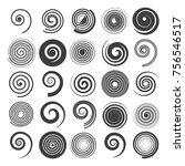 spiral vector. hypnotic swirled ... | Shutterstock .eps vector #756546517