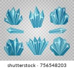 ice crystals. icy water cubes... | Shutterstock .eps vector #756548203