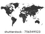 world map vector | Shutterstock .eps vector #756549523